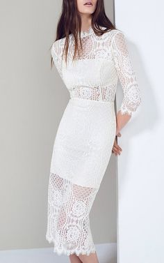 10 best alexis white miller delila dress images on pinterest this alexis floral lace dress features a high neck with elbow length mightylinksfo