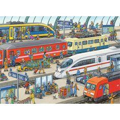 "Ravensburger Railway Station 60 Piece Puzzle - Ravensburger - Toys ""R"" Us"