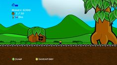 Miner Dig Deep (for Xbox Indies) (PART 1/2). 'RPG lite' meets 2D platformer, guide your cute little miner as he digs for precious minerals to sell for cash, used to buy better equipment to dig ever-deeper... Graphics and animation are simple but compelling. Music is surprisingly good--4 catchy tunes cycle in the background--and SFX are simple but satisfying. (CONTINUED)