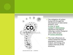 The mitigation of carbon footprints through the development of alternative projects, such assolarorwind energyorrefor...