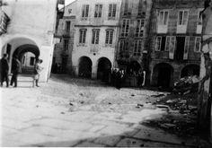 Praza do Campo coa fonte de San Vicente, Lugo. Arquivo Ebeling nº 190.