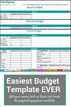 Best Free Budget Templates  Spreadsheets  Monthly Budget