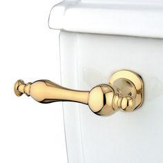 Kingston Brass KTNL2 Naples Toilet Tank Lever, Polished Brass - Price: $69.95 & FREE Shipping over $99     #kingstonbrass
