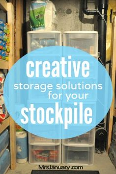 It's time to think outside the box. Stockpile organizing made simple. Here are some of my favourite creative storage solutions for your stockpile!