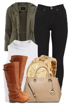 """."" by trillest-queen ❤ liked on Polyvore featuring mode, Dorothy Perkins, Dr. Denim, Bardot, Michael Kors, MICHAEL Michael Kors et Charlotte Russe"