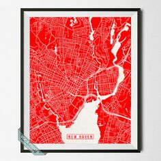New Haven Print Connecticut Poster New Haven Poster by VocaPrints