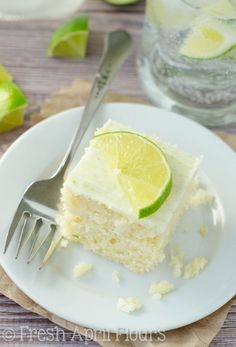 Gin & Tonic Snack Cake: A moist and flavorful lime cake soaked in a gin syrup and slathered with a boozy, lime frosting.