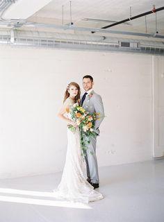 Citrus Wedding Palette with Whimsical Decor #brightweddingcolors #mismatchedweddingceremonychairs #beadedweddingdresses