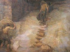 Alessandro Milesi (1856-1945) - Scaricatore di Sale, 1909