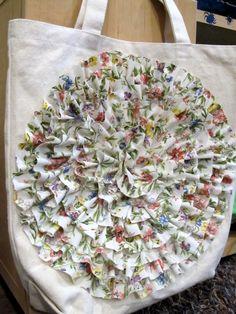 No sew ruffle bag tutorial