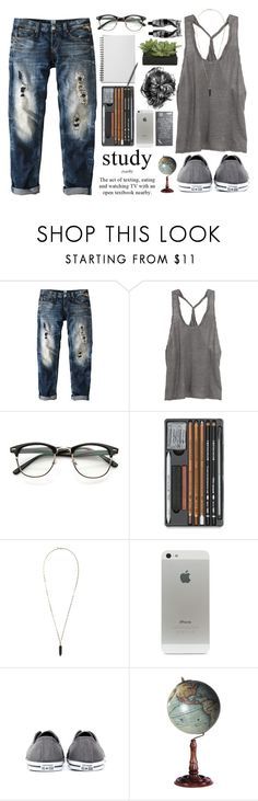 """working"" by shaniaayr ❤ liked on Polyvore featuring Replay, Inhabit, Isabel Marant, Converse, Authentic Models, Aesop, Lux-Art Silks, BackToSchool, teen and cutout"