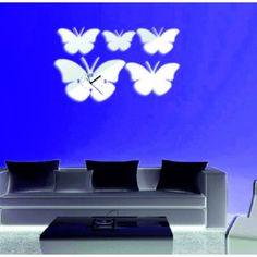 Moderne Klebe Stunden Schmetterlinge spiegeln.