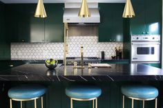 Midcentury Kitchen by Caitlin & Caitlin Design Co.
