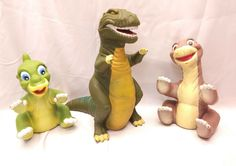 1988 Land Before Time Plastic Vinyl Hand Puppets Pizza Hut Rare. Lot of 3.  The items show signs of wear such as. some rubs marks paint wear. No rips or punctures. Pet free smoke free household. Please see pictures for this lots overall condition description and completeness. Thanks. | eBay!
