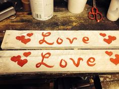 Skid wood love notes