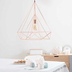 Lámpara de techo de metal cobrizo Ø 60cm IRON COPPER | Maisons du Monde