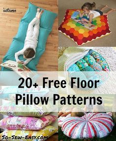 Hi! Stephanie from Swoodson Says again, sharing a round-up of one of my very favorite things to sew. Floor pillows are easy to make but make a big impact – the down side is once you sew one, all your