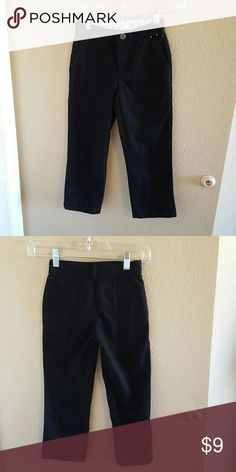 Gymboree NWOT Boys Black Chinos Size 5 Gymboree NWOT Boys Black Chinos Size 5 Adjustable tab inside waistband. Snap and zipper closure. Pockets in front and back. Gymboree Bottoms