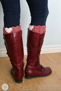 I heart bootcuffs by Felted Buttons: http://www.ravelry.com/patterns/library/i-3-boot-cuffs