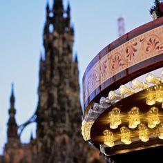Carousel & Scott Monument, Edinburgh