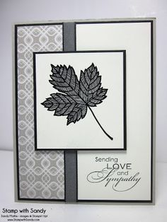 Magnificent Maple and Love & Sympathy stamp sets, Sweater Weather DSP, Very Vanilla, Sahara Sand, and Basic Black ink