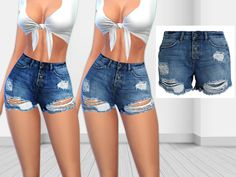 sims 4 cc // custom content clothing // the sims resource // Saliwa's Noisy May Nm Denim Shorts - sims 4 cc // custom content clothing // the sims resource // Saliwa's Noisy May Nm Denim Shorts si - Sims 4 Mods Clothes, Sims 4 Clothing, Sims 4 Pets, Sims 4 Black Hair, The Sims 4 Cabelos, Sims 4 Cc Packs, Sims4 Clothes, Sims 4 Dresses, Sims Four