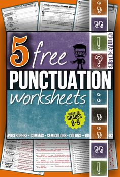 5 free worksheets to practice common punctuation errors (with detailed answer keys)