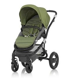 Affinity Stroller by Britax - Black base frame with Cactus Green color pack - Britax USA