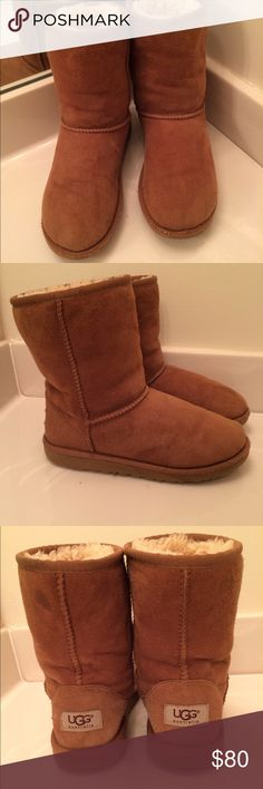 Ugg Kids Classic Chestnut Girls Size 4 Ugg Kids Classic Chestnut Girls Size 4. GUC some wear, plenty of life left. The kids' Classic provides all the same features and benefits as the grownup style but sized for your little one. The lightweight EVA outsole and genuine Twinface sheepskin provides extra comfort for all day wear. This is the quintessential UGG® style for kids that will soon become their favorite. Trades, paypal, any questions in the comments regarding price please use the offer…