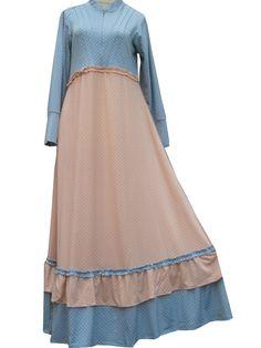 Maxi dress sifon motif zaskia