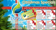 Check out fabulous #Christmas Spa and beauty special offers and exciting gift vouchers for yourself or someone special, enjoy a festive 25% extra free with every voucher at LaNu Medi Spa. Our wonderful Christmas special offers are available on complete #eyebrow treatment, full body #SprayTan, relaxing #massage therapies, #facials, full body #SaltScrub and hands or toes polish. Nail Treatment, Spa Treatments, Spa Specials, Hd Brows, Christmas Offers, Spa Packages, Beauty Packaging, Gift Vouchers