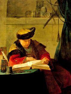 El filósofo leyendo, Chardin