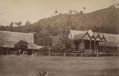 Government House, King Thakombau's Hall on left, Nasova, Fiji