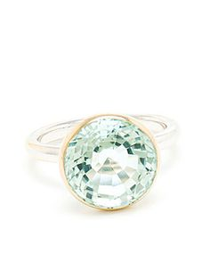 Marie-Helene De Taillac: White Gold and Aquamarine Ring