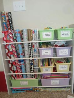 I think I will do this with our old toy shelves.