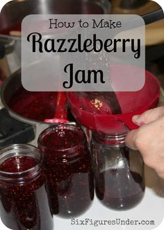 How to Make Razzleberry Jam - Six Figures Under How to Make Razzleberry Jam - Six Figures Under A cross between raspberry jam and blackberry jam is better than either flavor alone. Here& a step-by-step tutorial to make Razzleberry Jam and can it too! Canning Tips, Home Canning, Pressure Canning Recipes, Timmy Time, Salsa Dulce, Canned Food Storage, Jam And Jelly, Jelly Recipes, Drink Recipes