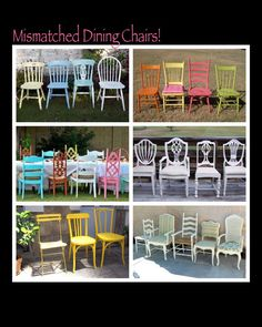 Hey, I found this really awesome Etsy listing at https://www.etsy.com/listing/182018360/mismatched-dining-chairs-paint-to-order