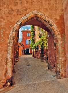 Archway, Roussillon, France by philhaber, via Flickr