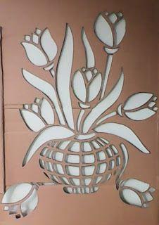 Mosaic Tile Art, Mosaic Crafts, Mosaic Glass, Stencil Patterns, Stencil Designs, Mosaic Patterns, Leaf Stencil, Stencil Painting, Hipster Wallpaper