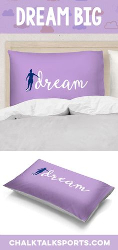 Sweet dreams are made of goals! Check out our originally designed soccer pillowcases. Soccer Room Decor, Pillowcases, Dream Big, Sweet Dreams, Bed Pillows, Goals, Check, Pillows, Pillow Case Dresses
