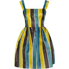 Dolce Gabbana Striped silk gazar mini dress ($2,400) ❤ liked on Polyvore featuring dresses and dolce gabbana dress