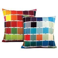 Almofada com cores pantone