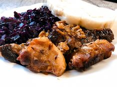 Bravčové výpečky s červenou kapustou (fotorecept) - Recept Steak, Pork, Foodies, Kale Stir Fry, Steaks, Pork Chops