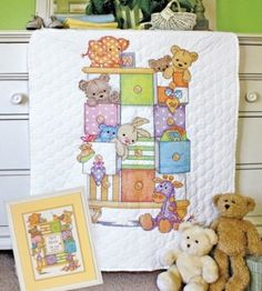 Amazon.com: Dimensions Needlecrafts Stamped Cross Stitch, Baby Drawers Quilt: Arts, Crafts & Sewing