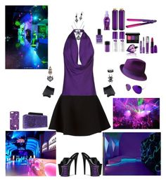 """""""Corner of The Club"""" by karlielove2party ❤ liked on Polyvore featuring Neil Barrett, Pleaser, Stefanie Phan, Gérard Darel, Chicnova Fashion, Thierry Mugler, Urban Decay, BaByliss, NYX and Diesel"""