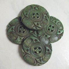 Polymer clay faux jade