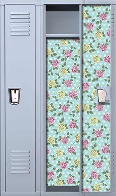 Dots & Roses School Locker Wallpaper