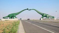 Giant Dinosaurs on the Chinese/Mongolian border!  #mongoliantour #mongolia #nature #mongol #voyage #travel  #asie #asia #steppe #traveling #tourism #traveler #travelphotography #travelphoto #travelers #visitmongolia  #nomad #paysage #altay #altai #sibir #
