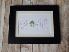 Sea glass art / beach glass art / sea glass home / by ScotiaGlass