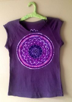 Batik Mandala mulberry vintage black women crop t-shirt hand painted and hand dyed